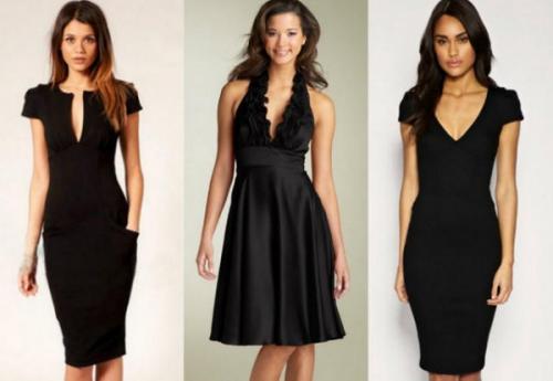 Черные платья разных фасонов