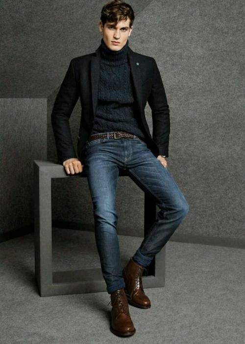 Мужчина в черном пиджаке