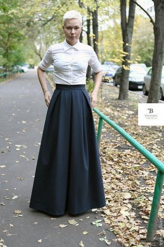 Зимние образы с юбками в пол