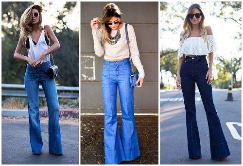 Девушки в джинсах-клеш