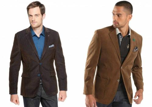 Мужские пиджаки на моделях