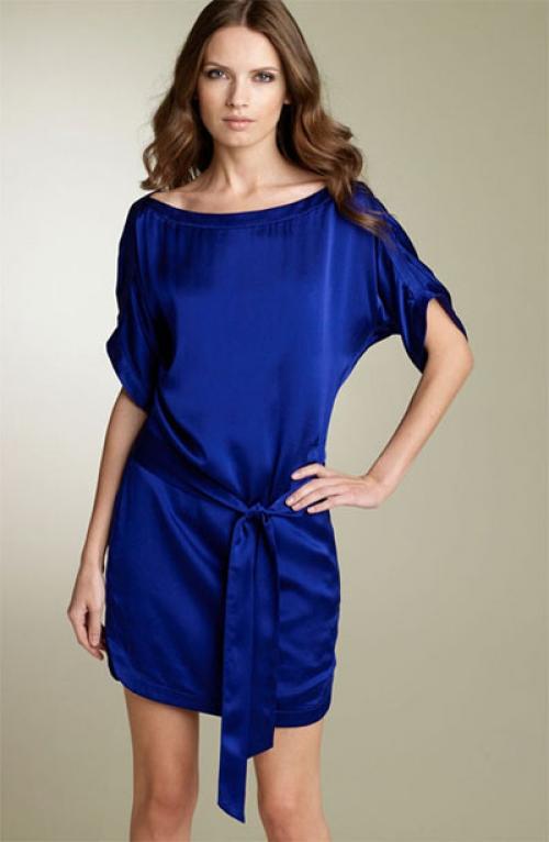 Синее платье-туника