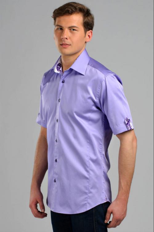 Фиолетовая рубашка навыпуск