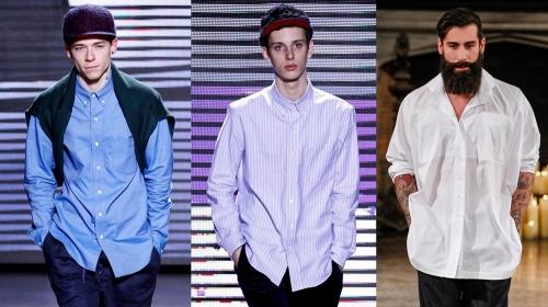 Рубашки разных цветов навыпуск
