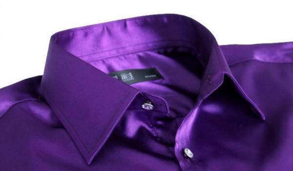 Фиолетовая мужская рубашка