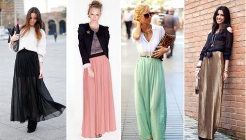 Юбки и блузки разных цветов