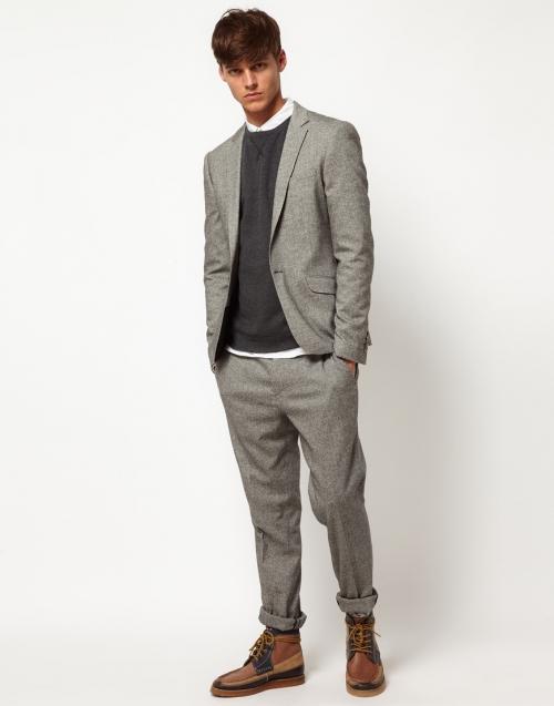 Серый пиджак от костюма