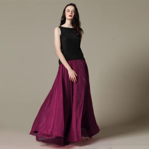 Пышная длинная юбка
