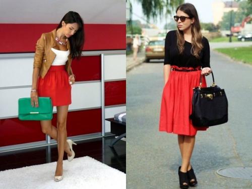 Красная юбка и топ