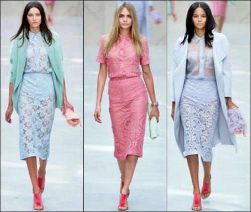 Кружевные юбка пастельных оттенков