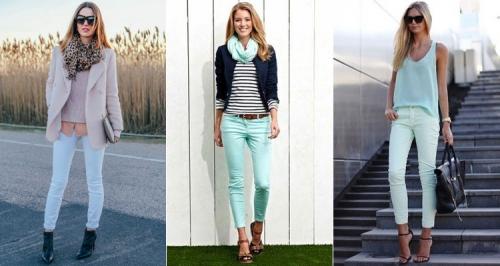 Образы со светло-голубыми джинсами