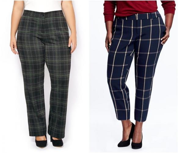 Разноцветные кофты и брюки для полных