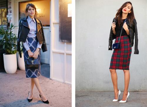 Куртки и юбки на девушках