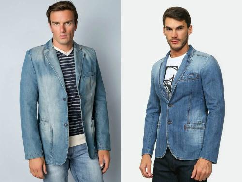 Джинсовые пиджаки на мужчинах