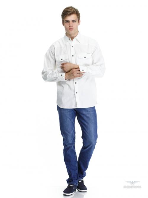 Синие джинсы и белая мужская рубашка