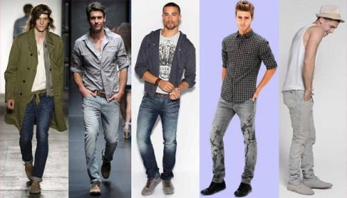 Узкие джинсы на мужчине