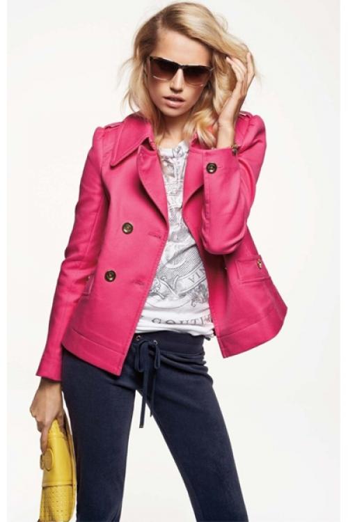 Розовая куртка-пиджак