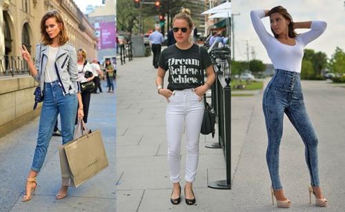 Обтягивающие джинсы и туфли на каблуке