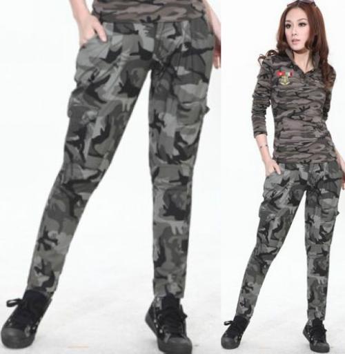 Серые брюки милитари