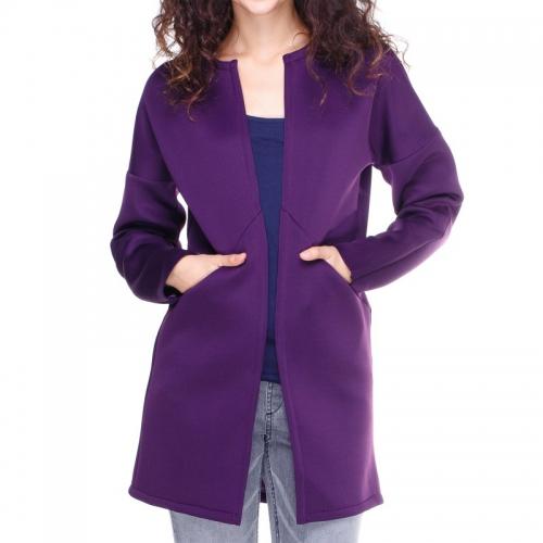 Темно-фиолетовый кардиган