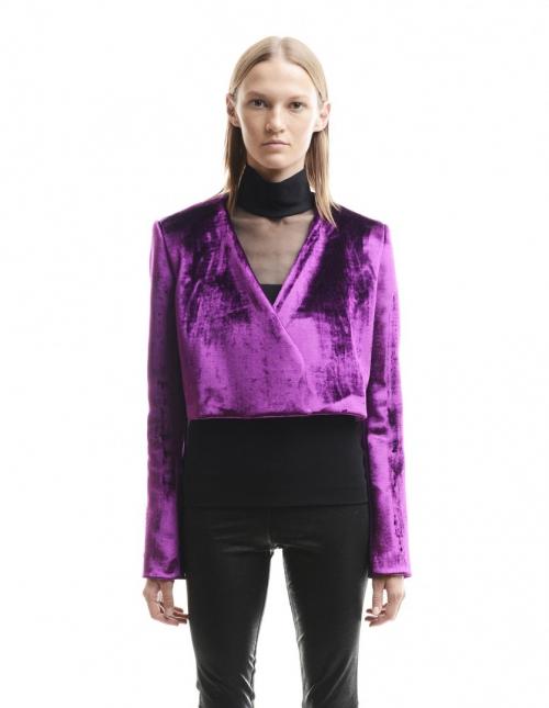 Ярко-сиреневый вельветовый пиджак