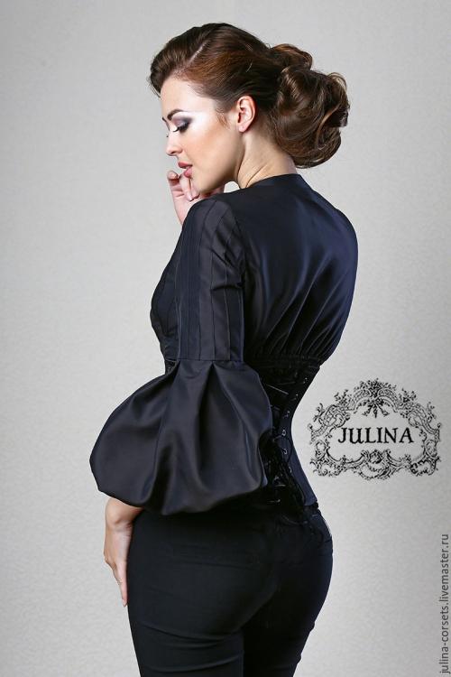 Роскошная черная блузка