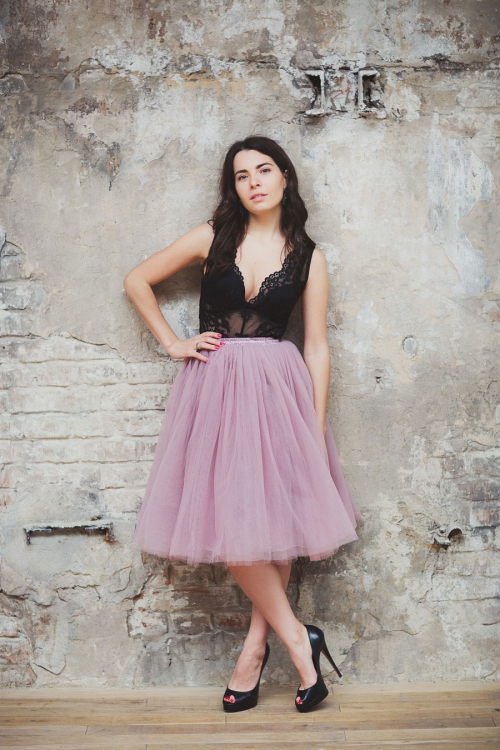 Пудровая юбка-пачка