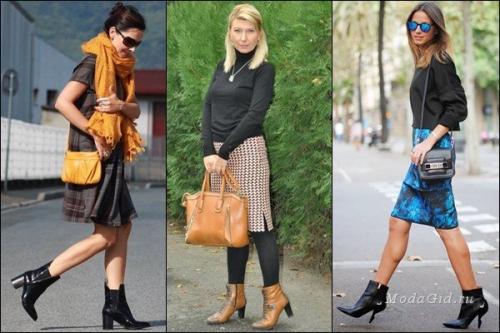Ботильоны и юбка разных цветов
