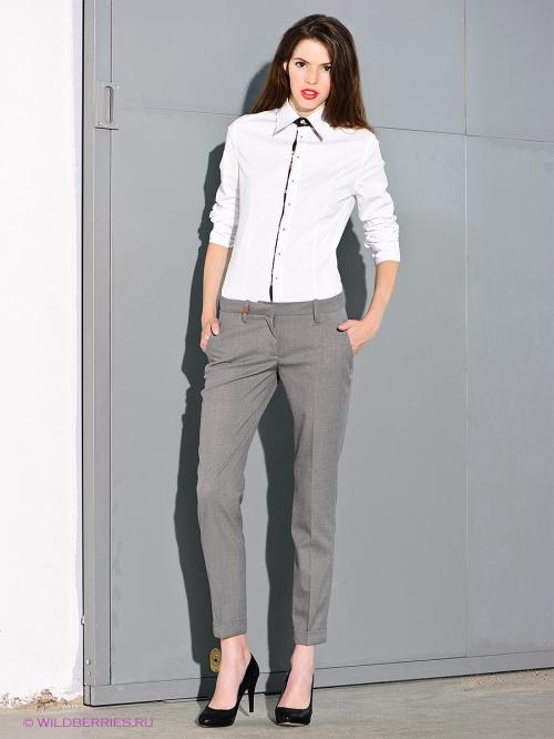 Серые классические женские брюки